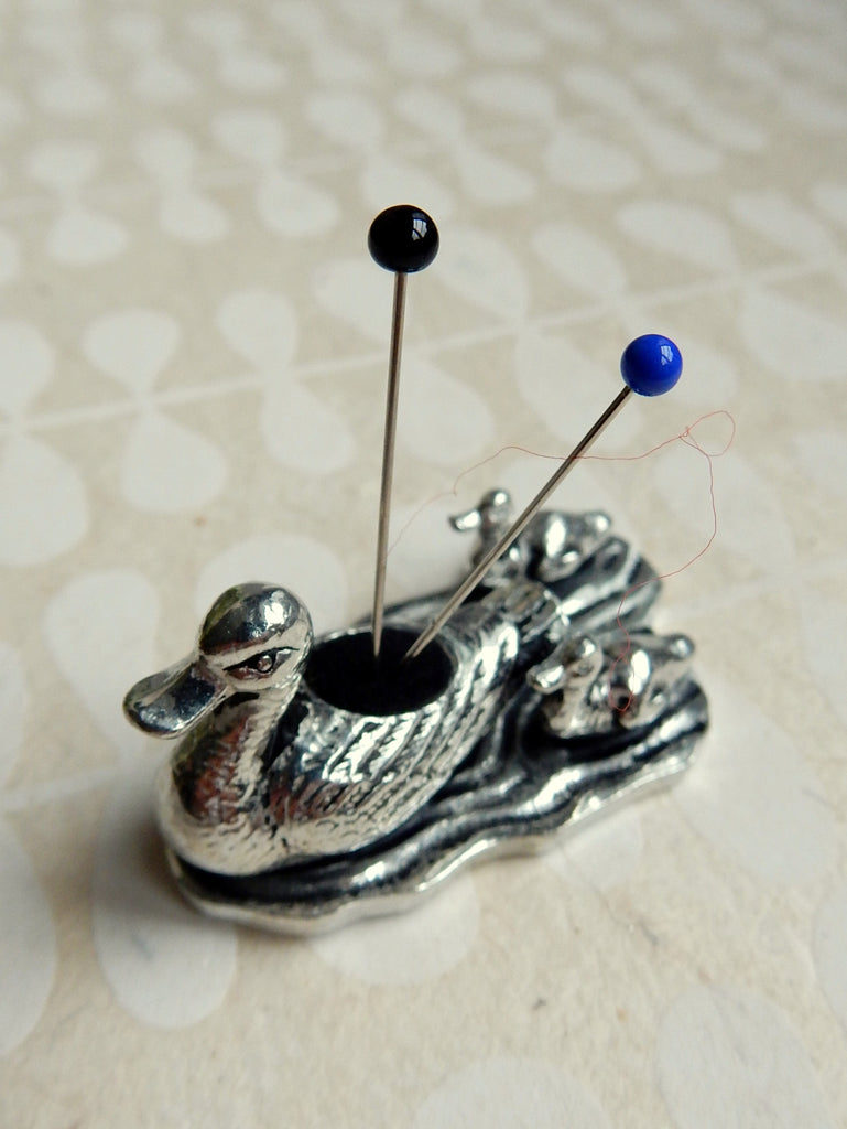 Pewter Pin Cushion - Ducklings