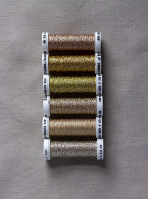 Metallic thread set - shades of gold