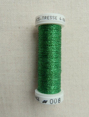 Metallic - Fine braided #4 - Color #008 (Green)