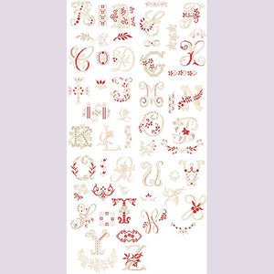 """Antique Linen"" Alphabet Chart"