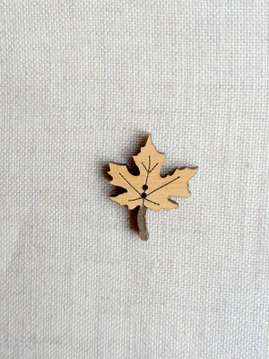 Maple button - natural