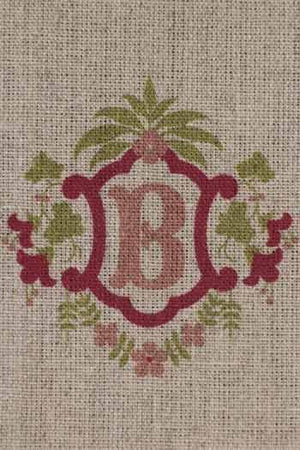 """B"" stamped on linen"