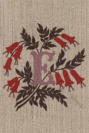 """E"" stamped on linen"