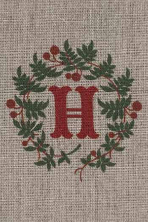 """H"" stamped on linen"