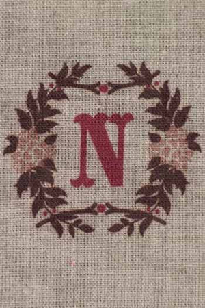 """N"" stamped on linen"
