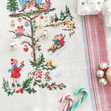 Little Christmas House tea towel