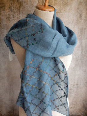 """My House my Castle""  Scarf - linen"