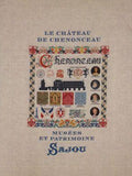 Chenonceau printed tea towel