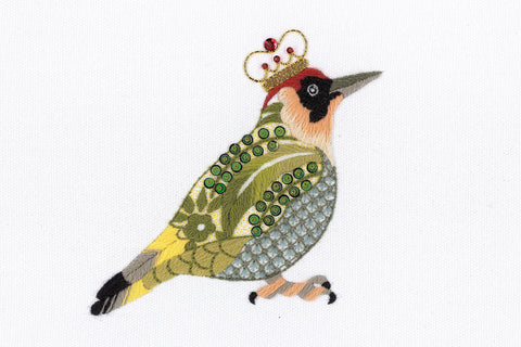 Woodpecker on Silk