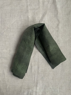Hand Dyed Linen - Olive