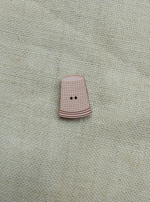Thimble button -  pink