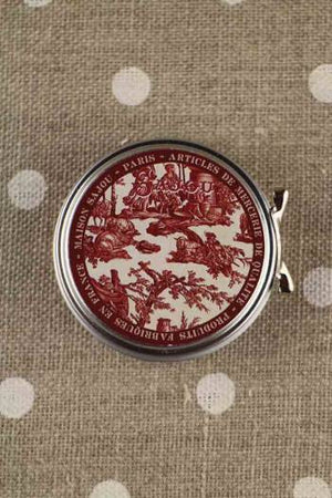 Red Toile de Jouy Tin with Threads