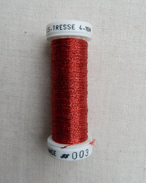 Metallic - Fine braided #4 - Color #0003 (Red)
