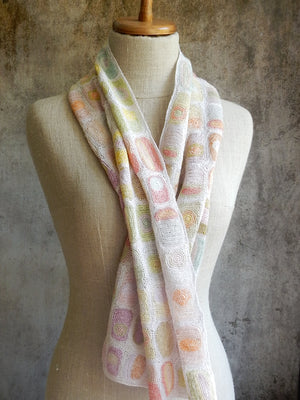 """Sun and Moon"" large linen scarf"