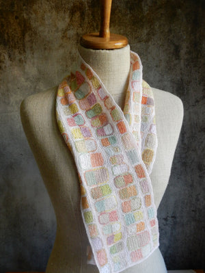 """The Sun and Moon"" small linen scarf"