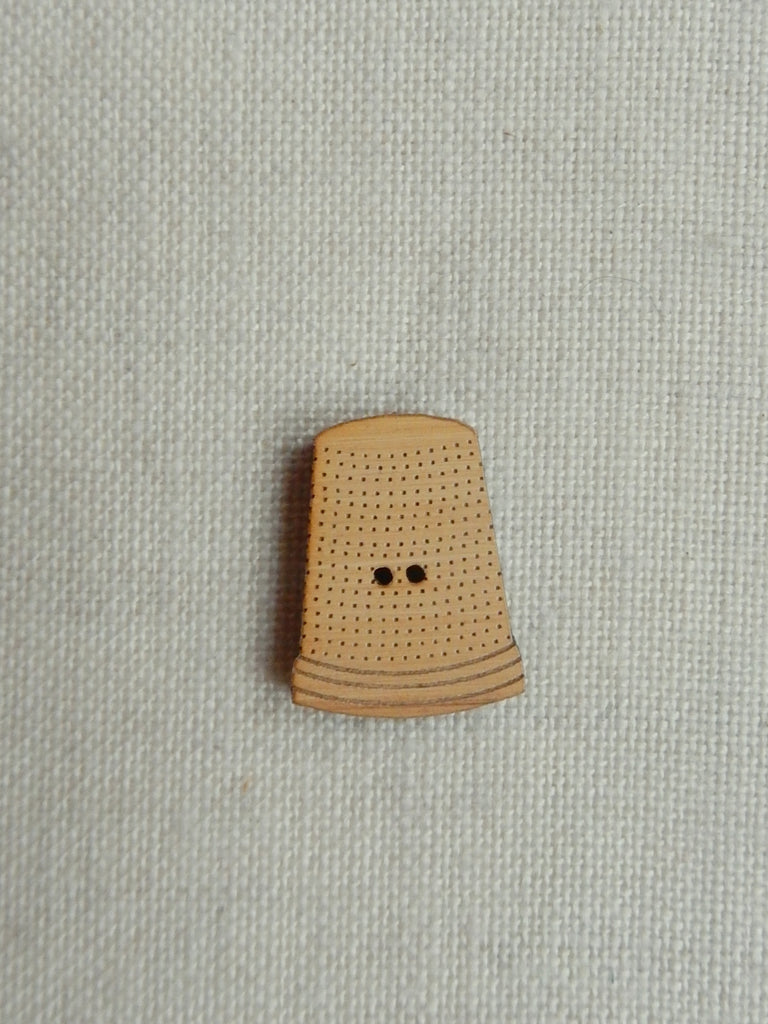 Thimble button -  natural