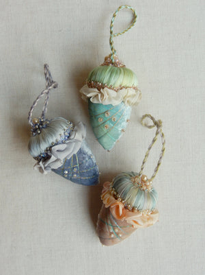Velvet Acorn  Ornament Set Kit - Winter Mix