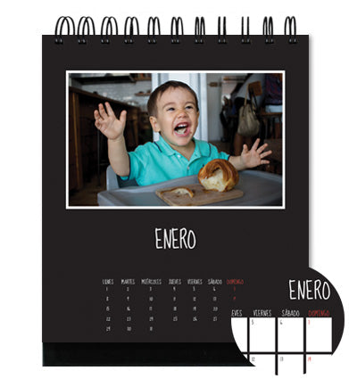 Calendario de Escritorio Vertical