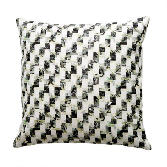 "BLOCK PILLOW (20x20"") in Oyster"