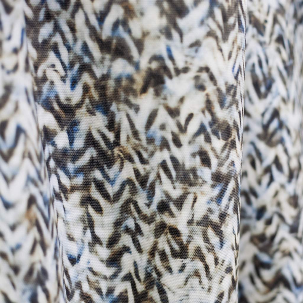"Carley Kahn ""Chevron"" upholstery fabric. Blue and tan colorway."