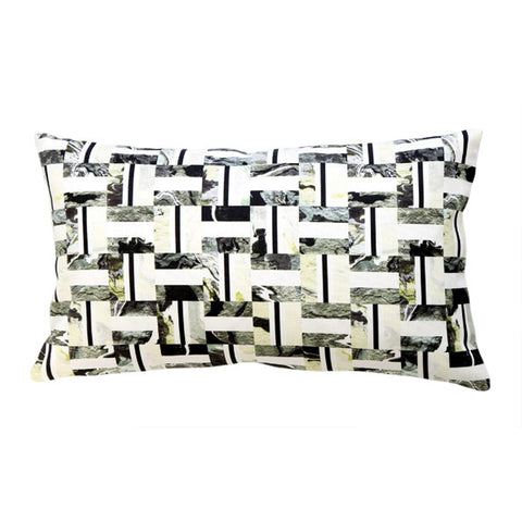 "INLAY PILLOW (12x20"") in Oyster"