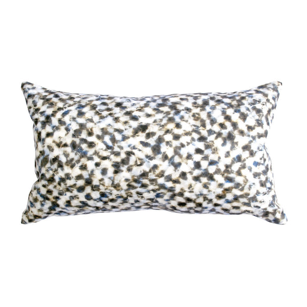 "CHECKER PILLOW (12x20"") in Blue and Tan"