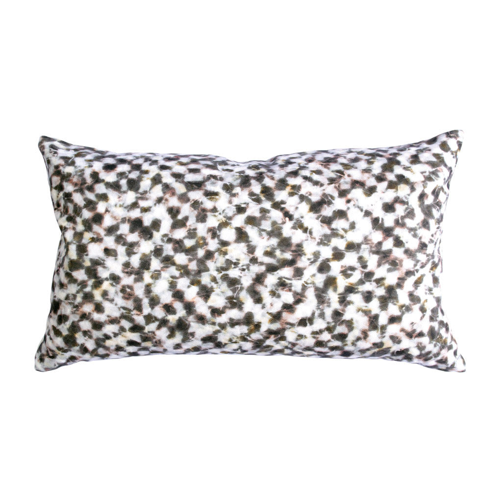 "CHECKER PILLOW (12x20"") in Rose and Gold"