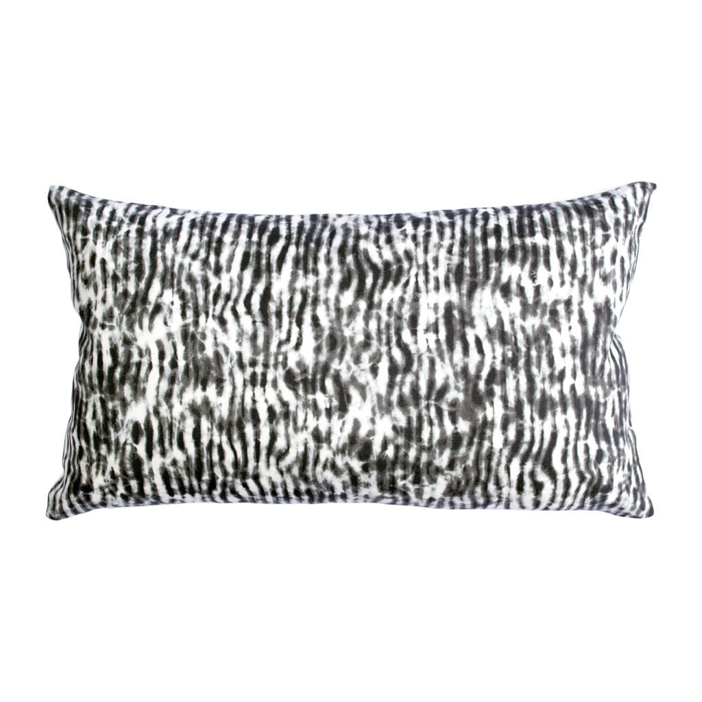 "STRIPE PILLOW (12x20"") in Black and White"