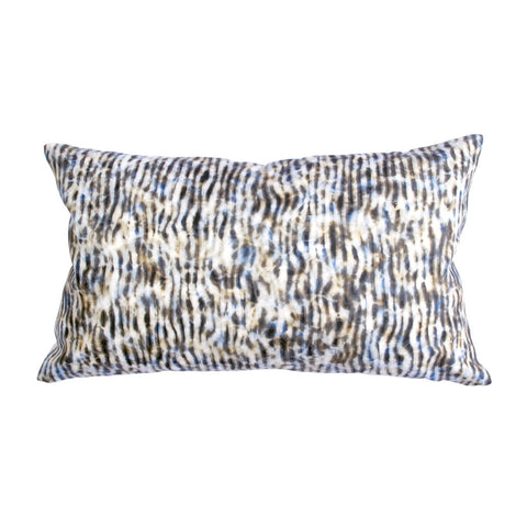 "STRIPE PILLOW (12x20"") in Blue and Tan"