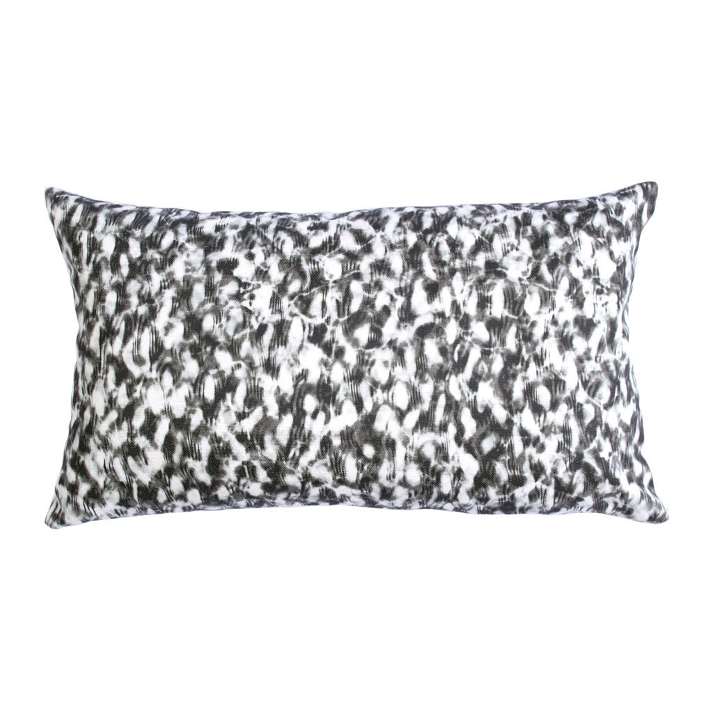 "SCALLOP PILLOW (12x20"") in Black and White"