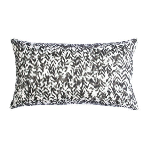 "CHEVRON PILLOW (12x20"") in Black and White"