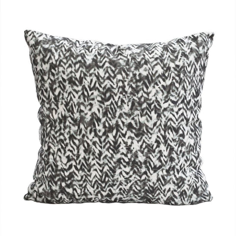 "CHEVRON PILLOW (20x20"") in Black and White"
