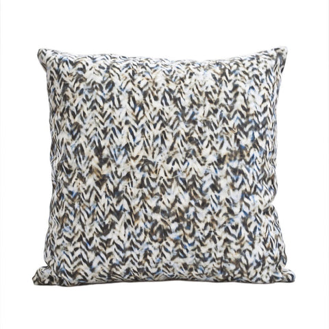 "CHEVRON PILLOW (20x20"") in Blue and Tan"