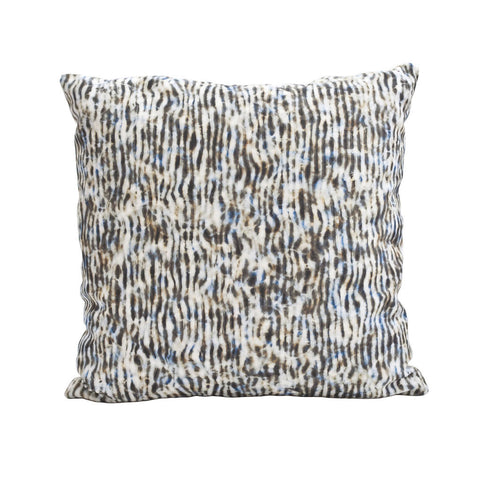 "STRIPE PILLOW (20x20"") in Blue and Tan"