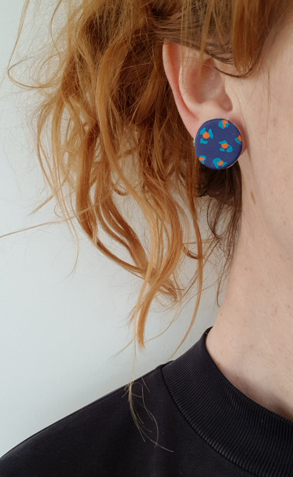 Painted Leopard print earrings
