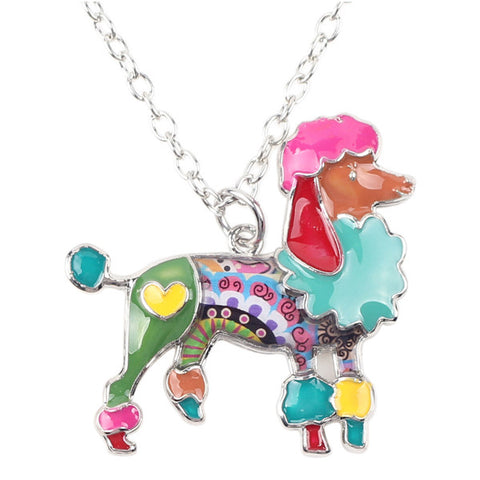 Poodle Dog Pendant Necklace pendentif