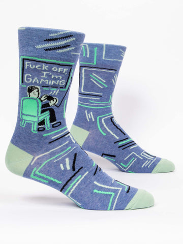 Blue Q - Men's Socks - Fuck Off, I'm Gaming
