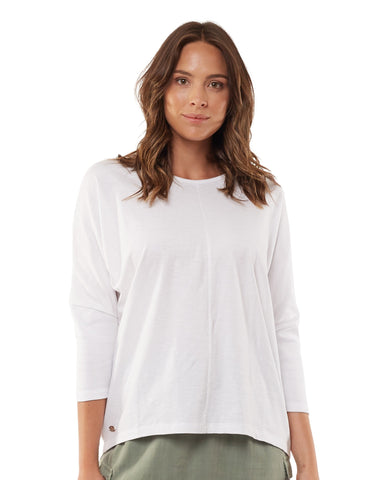 Foxwood Sara Long Sleeve Top - White