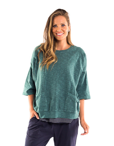 Elm - Fundamental Mazie Sweat - Light Green