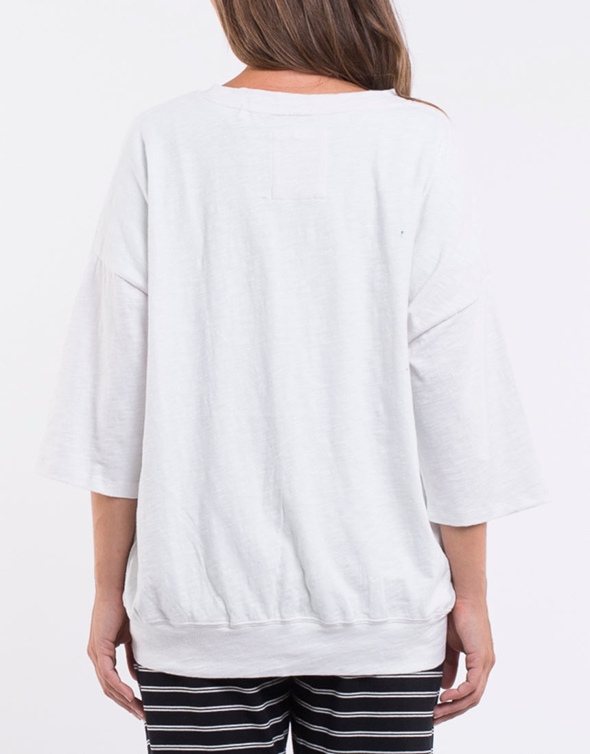 Elm - Fundamental Mazie Sweat - White
