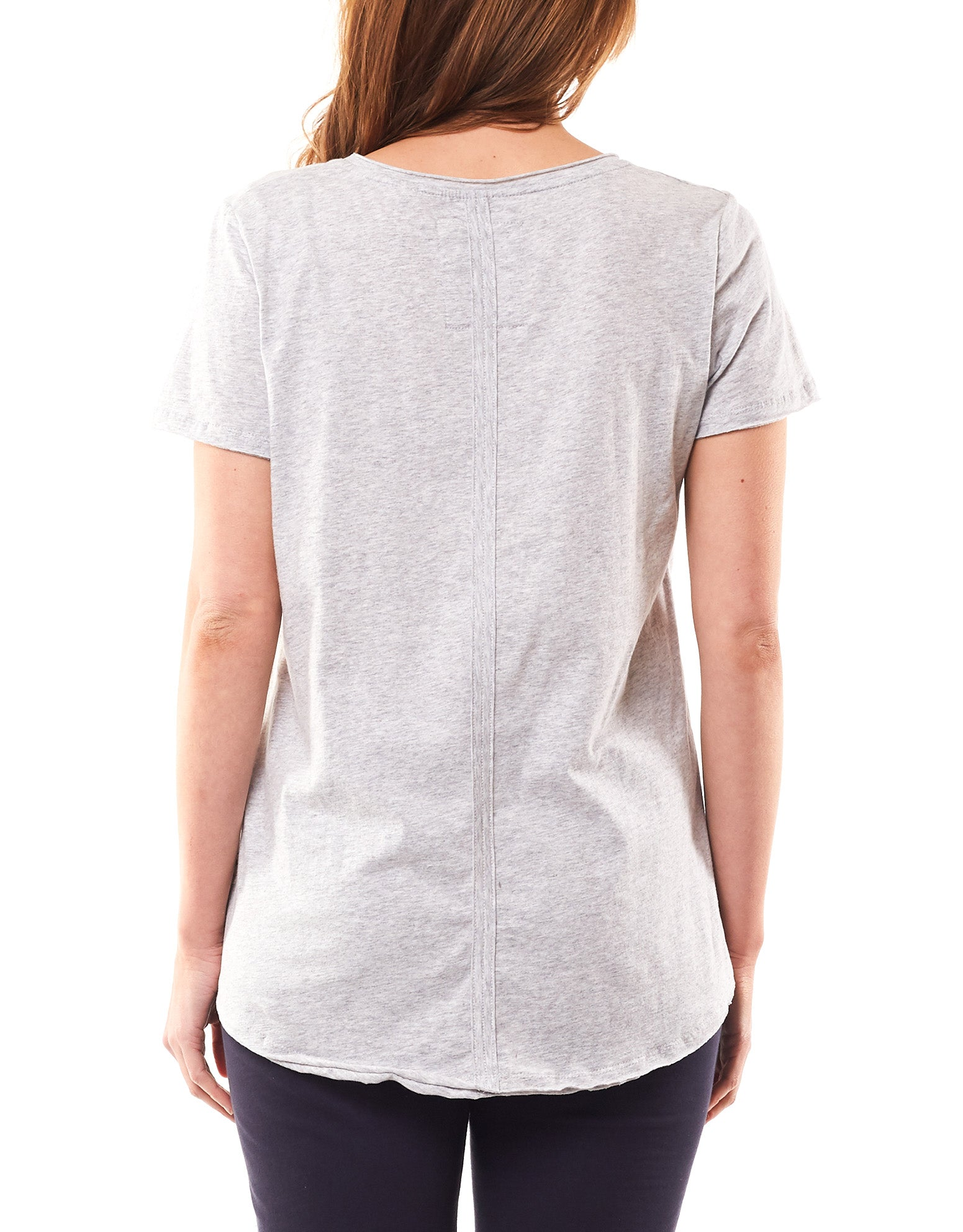 Elm - Fundamental Vee Tee - Grey Marle