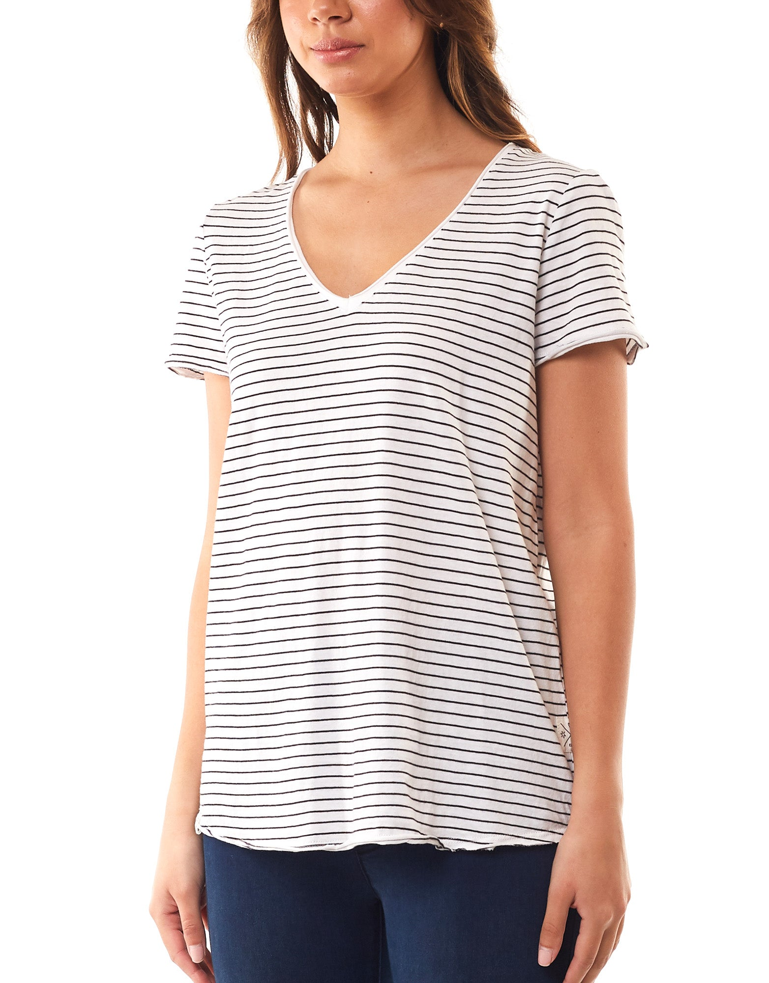Elm - Fundamental Vee Tee - Stripe
