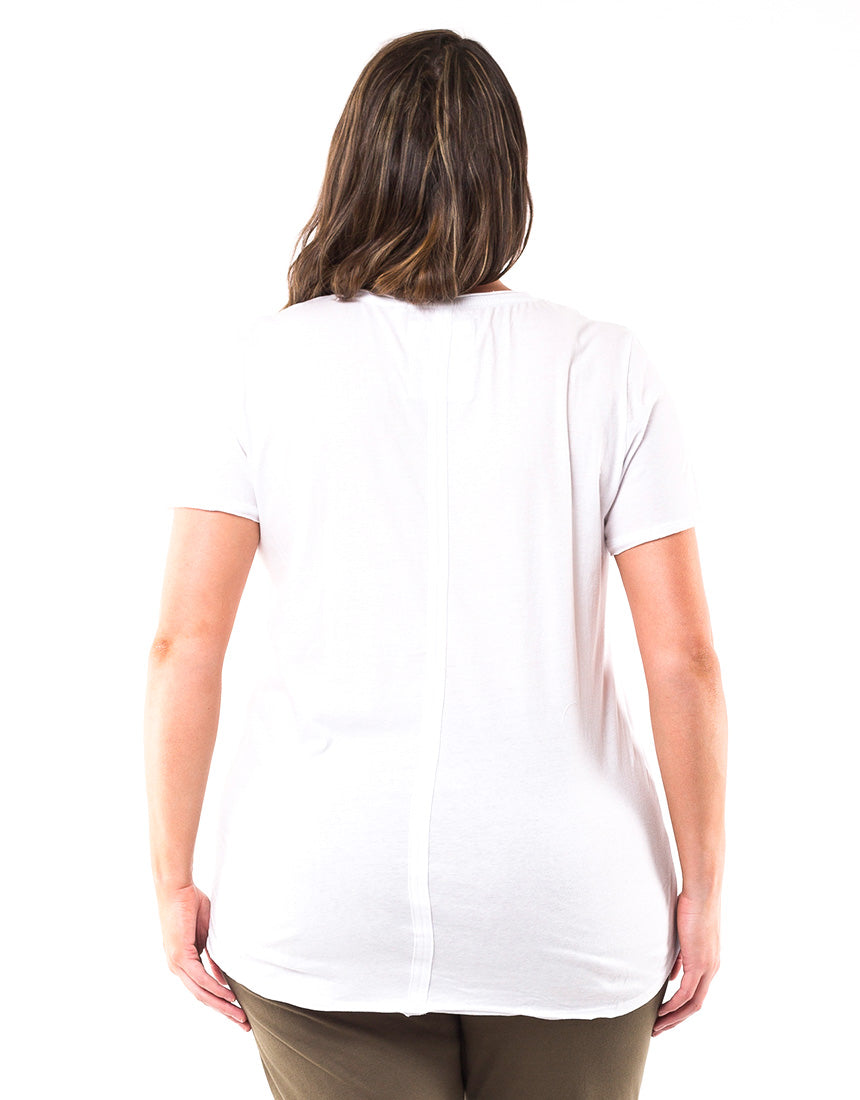 Elm - Fundamental Vee Tee - White