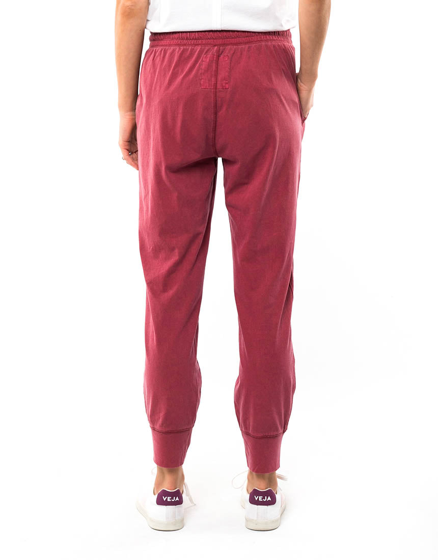 Elm - Wash Out Pant - Berry Red