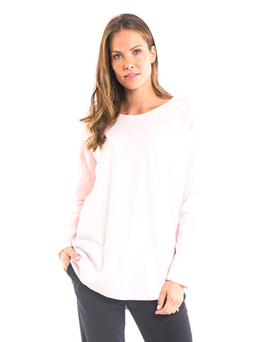 Elm - Fundamental Rib Long Sleeve Tee - Peach