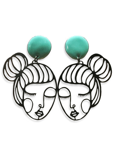 Denz & Co. - Wire Babe Earrings - Mary