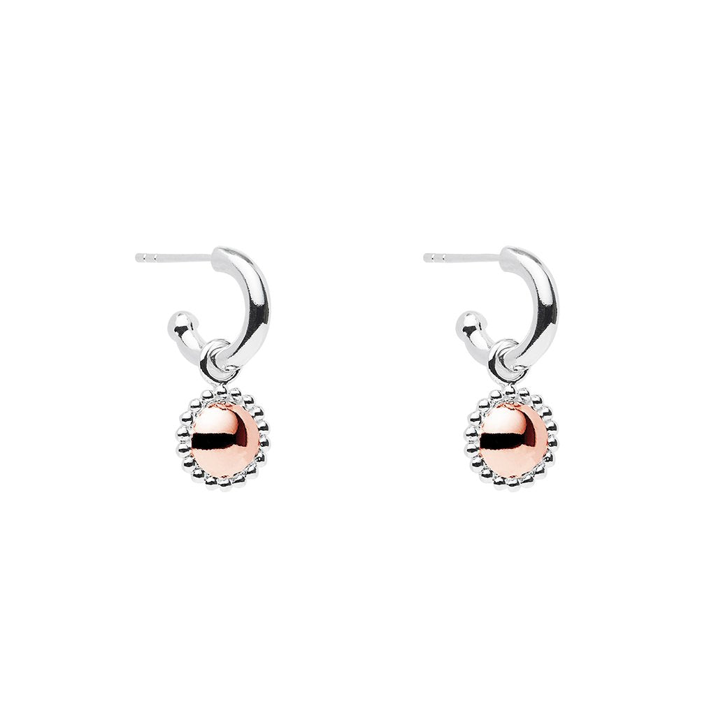 Najo E5922 Beaded Rosy Glow Earrings