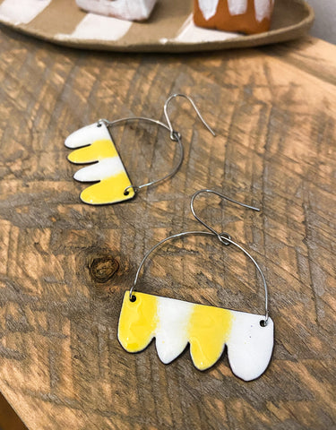 Denz & Co. - Yellow & White Earrings
