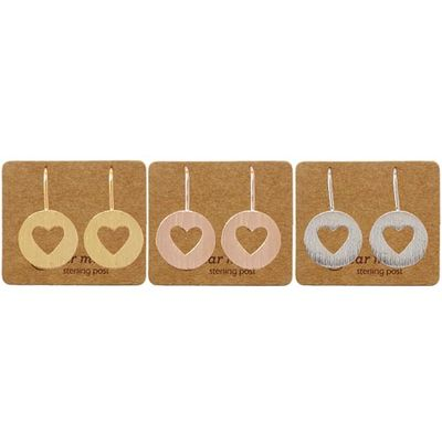 Ear Mints - Brushed Heart Disc Hook