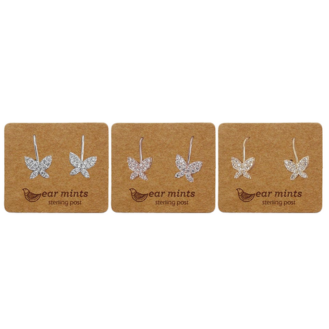 Ear Mints - Cubic Butterfly Hooks